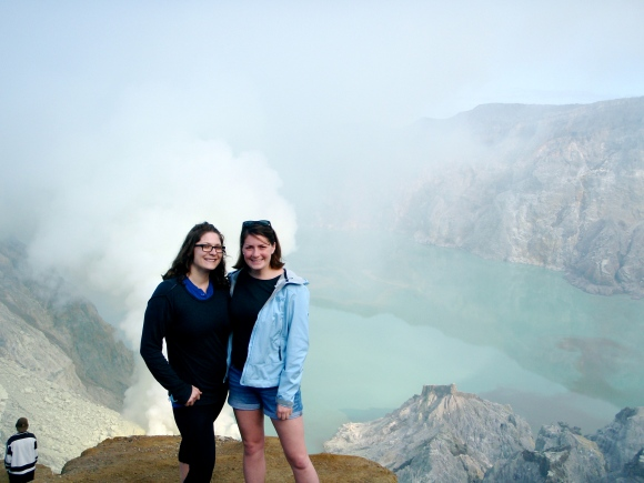 Ashley and me at the crater